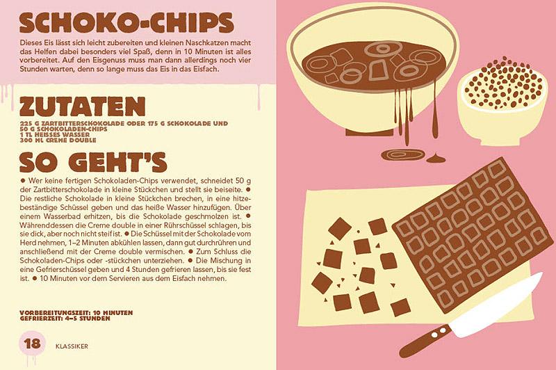 Rezept Bilder rezension eis das kleine handbuch und rezept für schoko chips eis